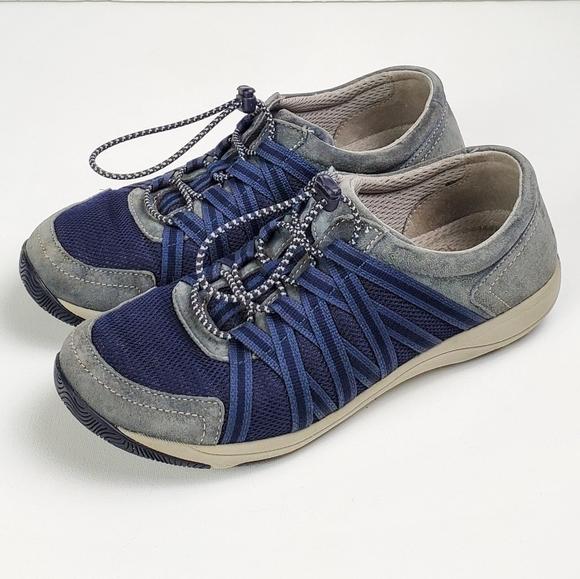 Dansko Shoes   Honor Blue Suede Mesh